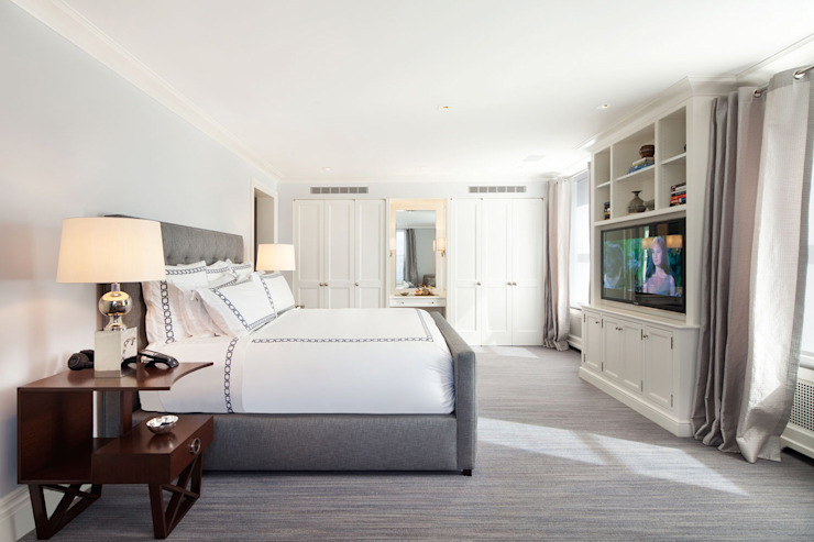 Fifth Avenue Apartment andretchelistcheffarchitects Modern style bedroom