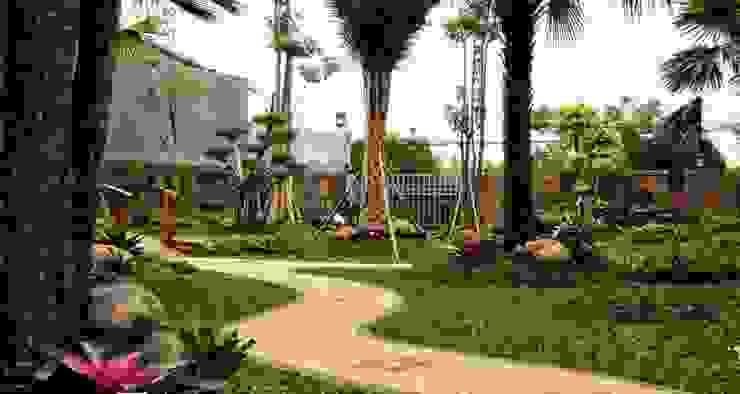 Taman Modern minimalis II:modern  oleh TUKANG TAMAN SURABAYA - jasataman.co.id, Modern