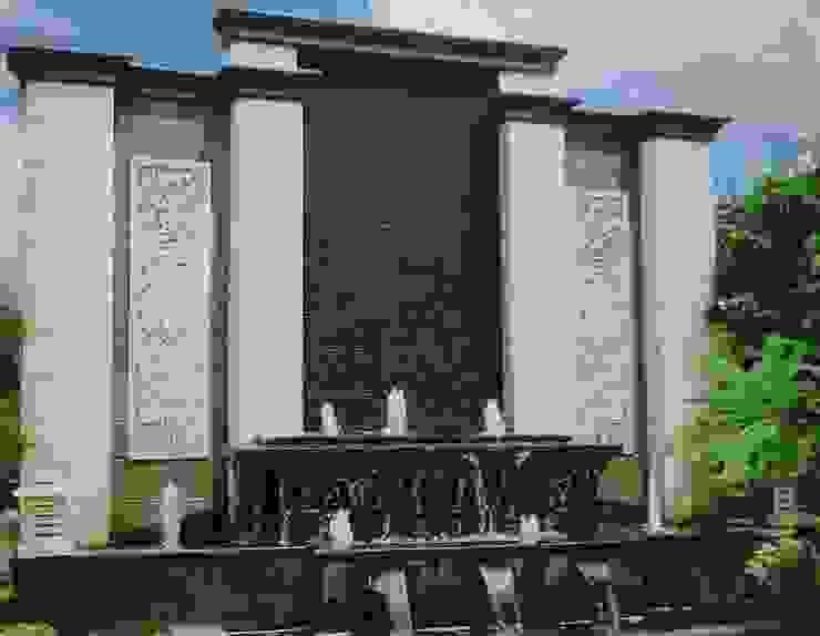 Air mancur | Water wall dan Kolam Hias Koi:modern  oleh TUKANG TAMAN SURABAYA - jasataman.co.id, Modern