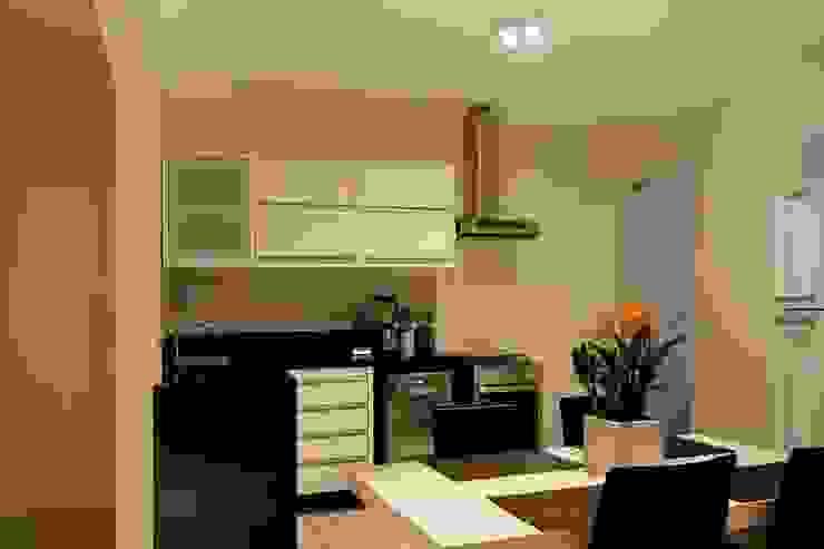 Apartamento E.C., Jardins, São Paulo - Vista da Cozinha por André Viana Arquitetura Industrial