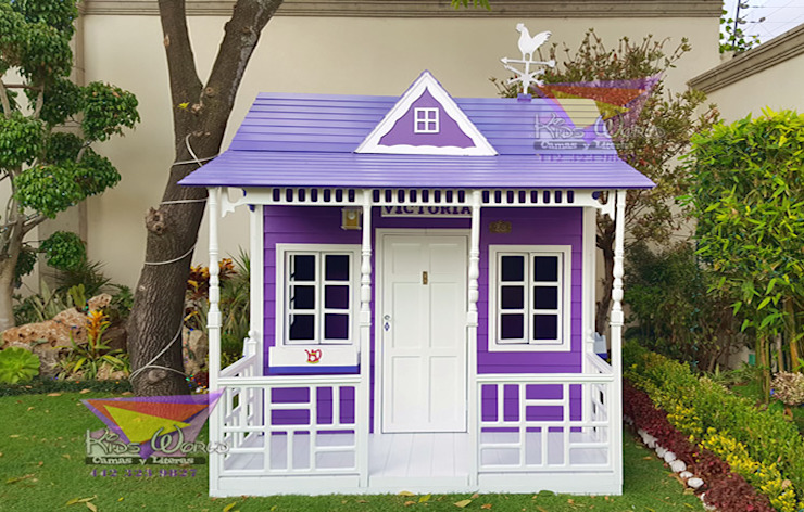 Preciosa casita para jardin de camas y literas infantiles kids world Clásico Derivados de madera Transparente