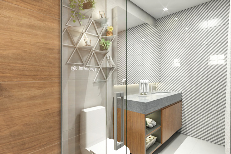 Bathroom by Bruna Rodrigues Designer de Interiores, Modern Concrete
