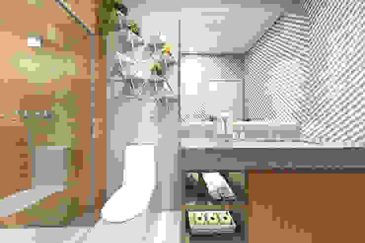 Bruna Rodrigues Designer de Interiores Modern bathroom Granite Grey