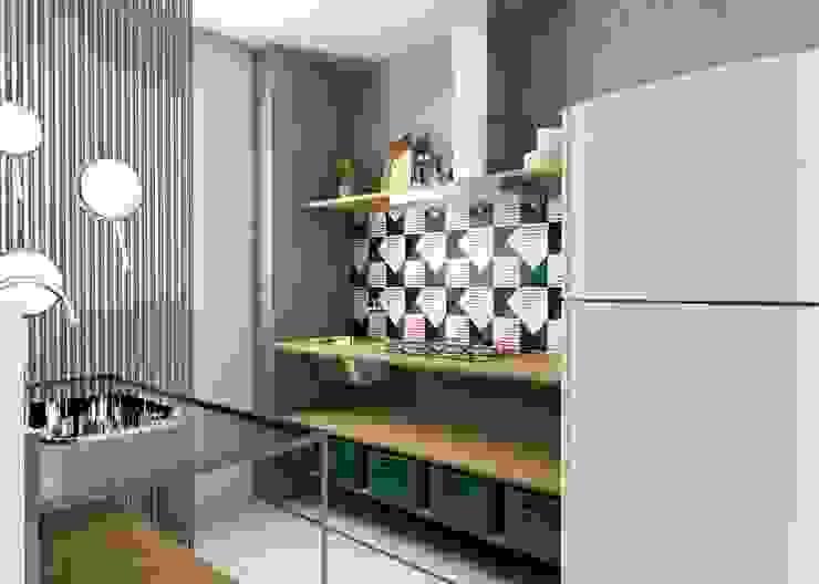 Bruna Rodrigues Designer de Interiores Módulos de cocina Tableros de virutas orientadas