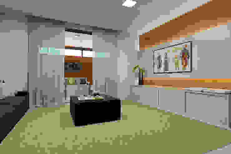 Bruna Rodrigues Designer de Interiores Minimalist living room MDF