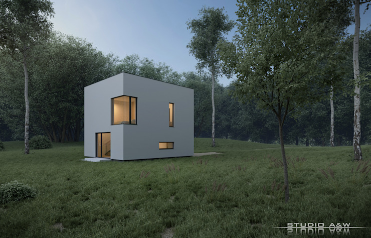 Rumah Minimalis Oleh Architekt Łukasz Bulga Studio A&W Kraków | Projekty domów nowoczesnych Minimalis