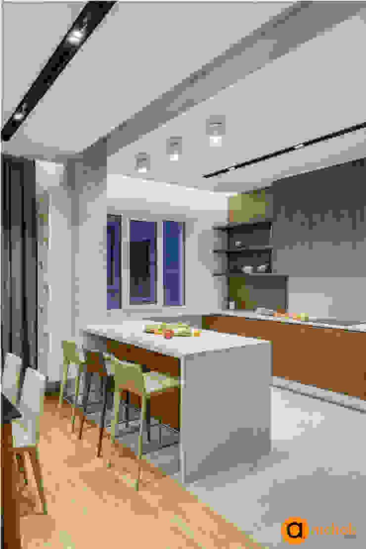 インダストリアルデザインの キッチン の Artichok Design インダストリアル