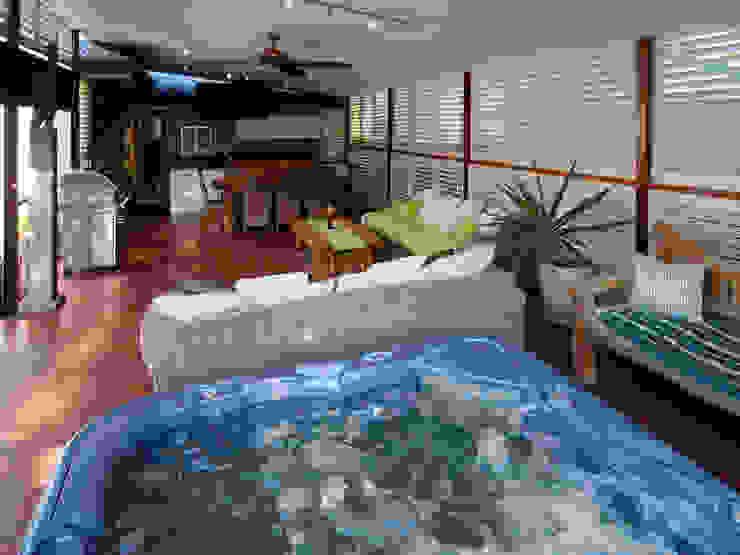 Aluminium Shutters—Outdoor Rooms Modern Terrace by TWO Australia Modern