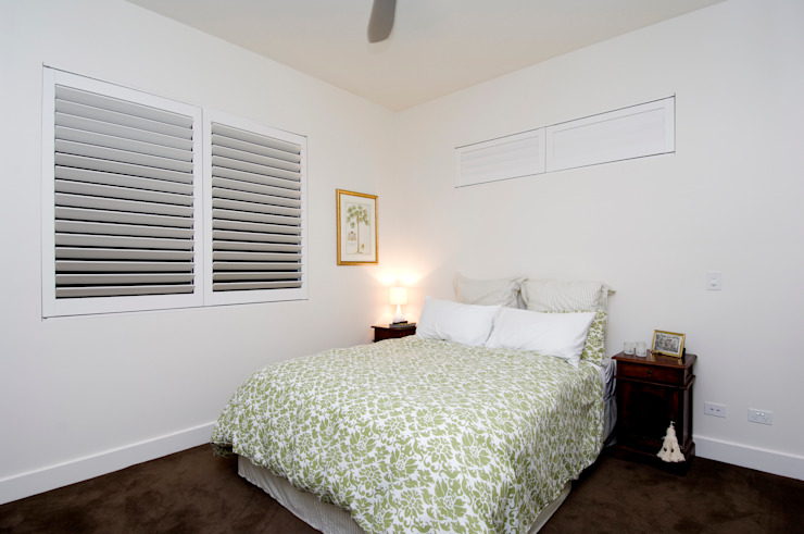 Bedroom Plantation Shutters Classic style bedroom by TWO Australia Classic