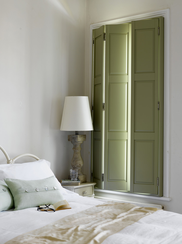Bedroom Plantation Shutters Colonial style bedroom by TWO Australia Colonial