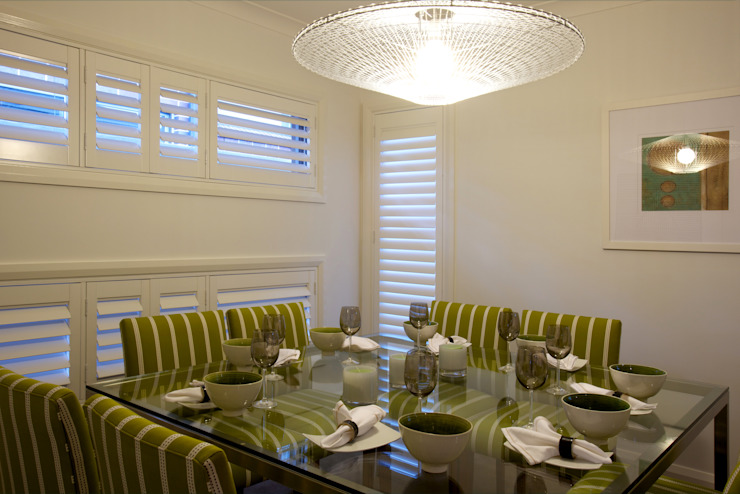 Plantation Shutters—Dining Rooms Colonial style dining room by TWO Australia Colonial