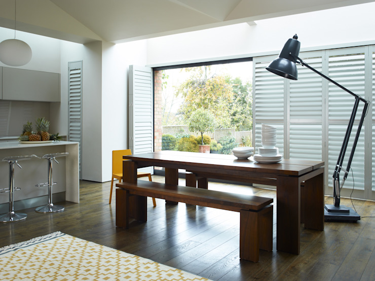 Plantation Shutters—Dining Rooms Modern Dining Room by TWO Australia Modern