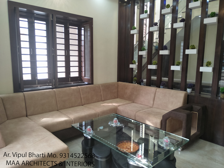 Sunil ji Kalyani Modern living room by MAA ARCHITECTS & INTERIOR DESIGNERS Modern