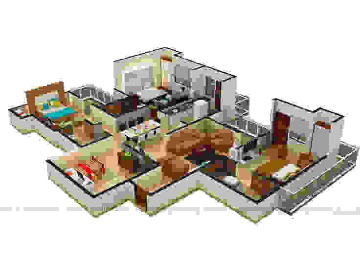 3D Floor Plan Rendering Services by Rayvat Rendering Studio