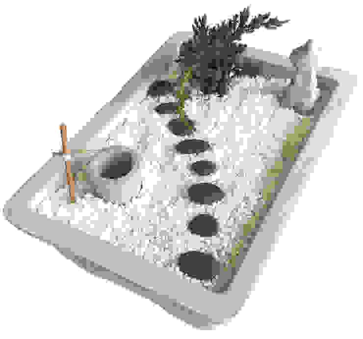 Mini Japanese garden: 極簡主義  by Chinpu technology Inc., 簡約風