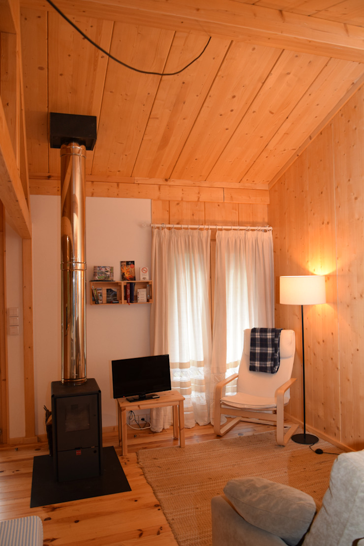 Livings de estilo rústico de Rusticasa Rústico Madera Acabado en madera