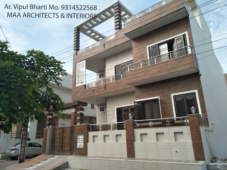 Sunil ji Kalyani Modern houses by MAA ARCHITECTS & INTERIOR DESIGNERS Modern