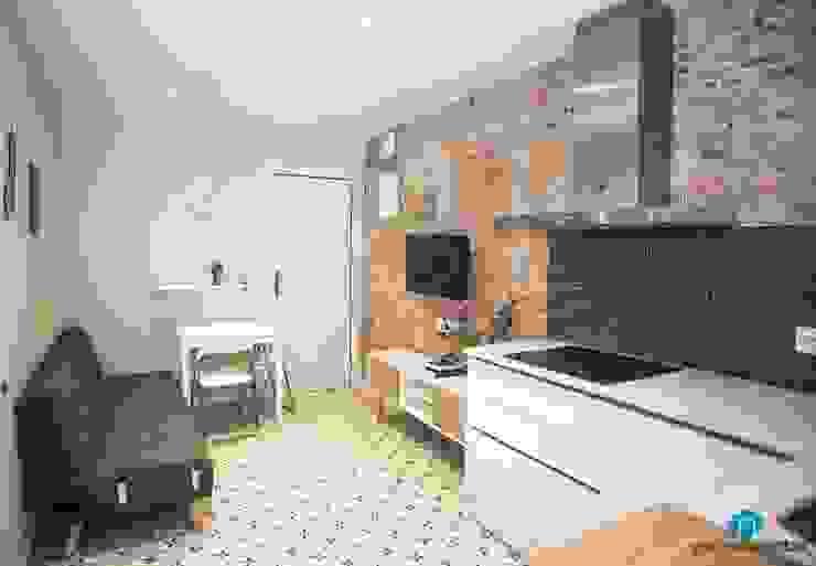 Modern Living Room by Grupo Inventia Modern Bricks