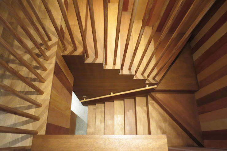 group-scoop Eclectic style corridor, hallway & stairs Plywood Wood effect