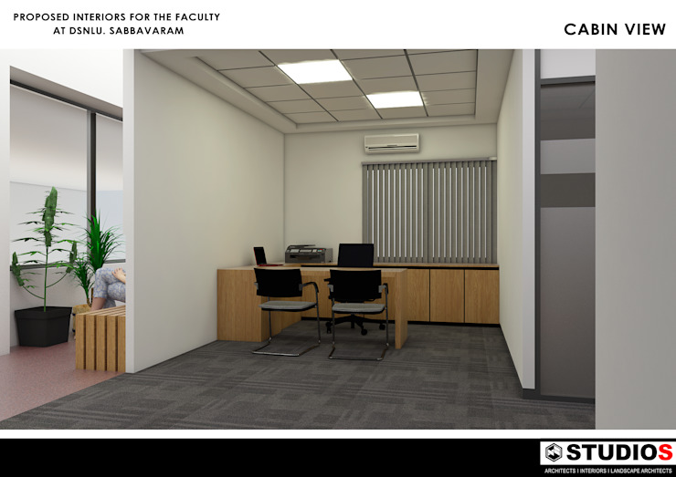OFFICE INTERIORS AND INSTITUTIONAL PROJECTS: modern  by STUDIOS,Modern