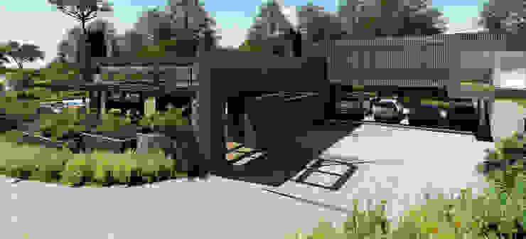 Garagem Modern Garage and Shed by MRAM Studio Modern