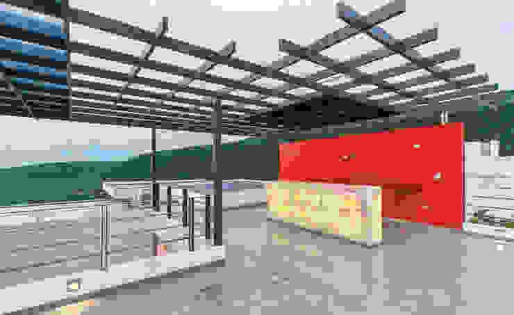 SANTIAGO PARDO ARQUITECTO Balcone, Veranda & Terrazza in stile moderno