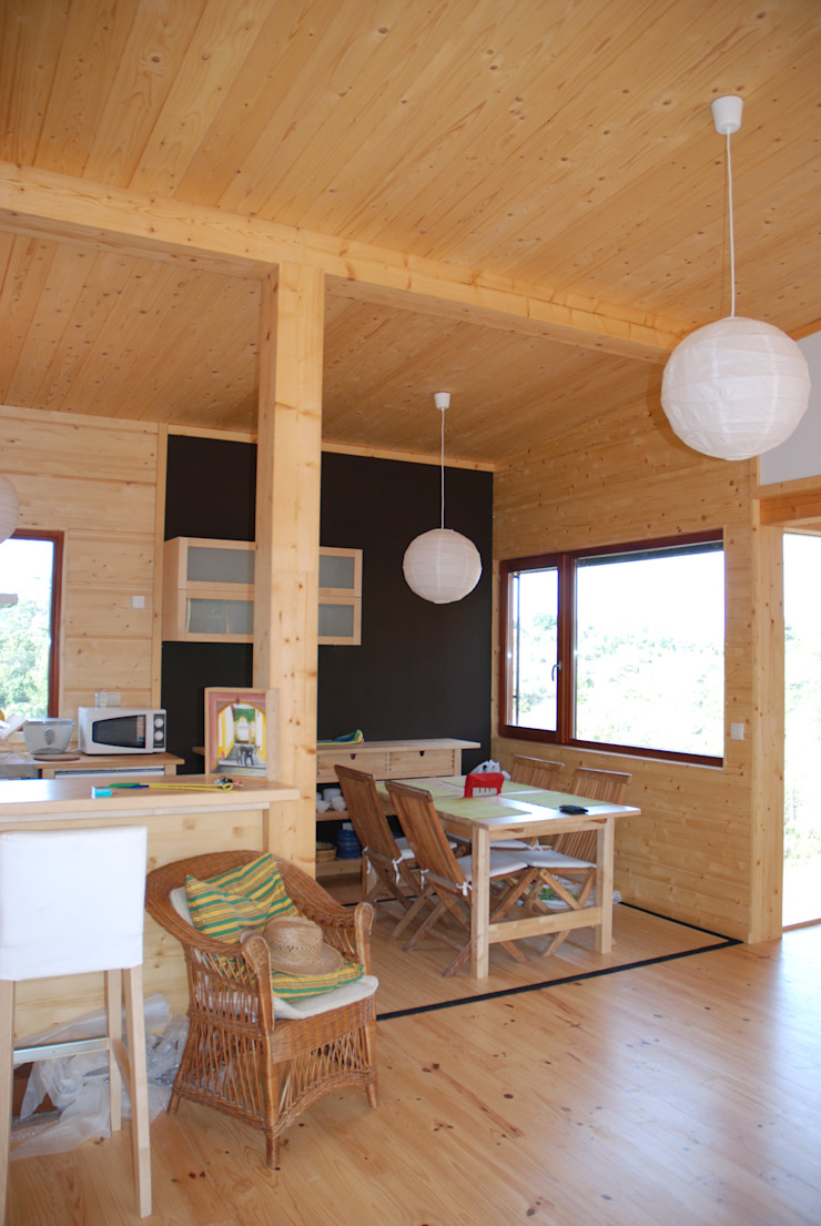 Ruang Makan Gaya Rustic Oleh Rusticasa Rustic Kayu Wood effect