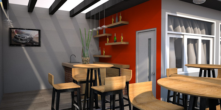 Modern Terrace by DCS ARQUITECTOS Modern Iron/Steel