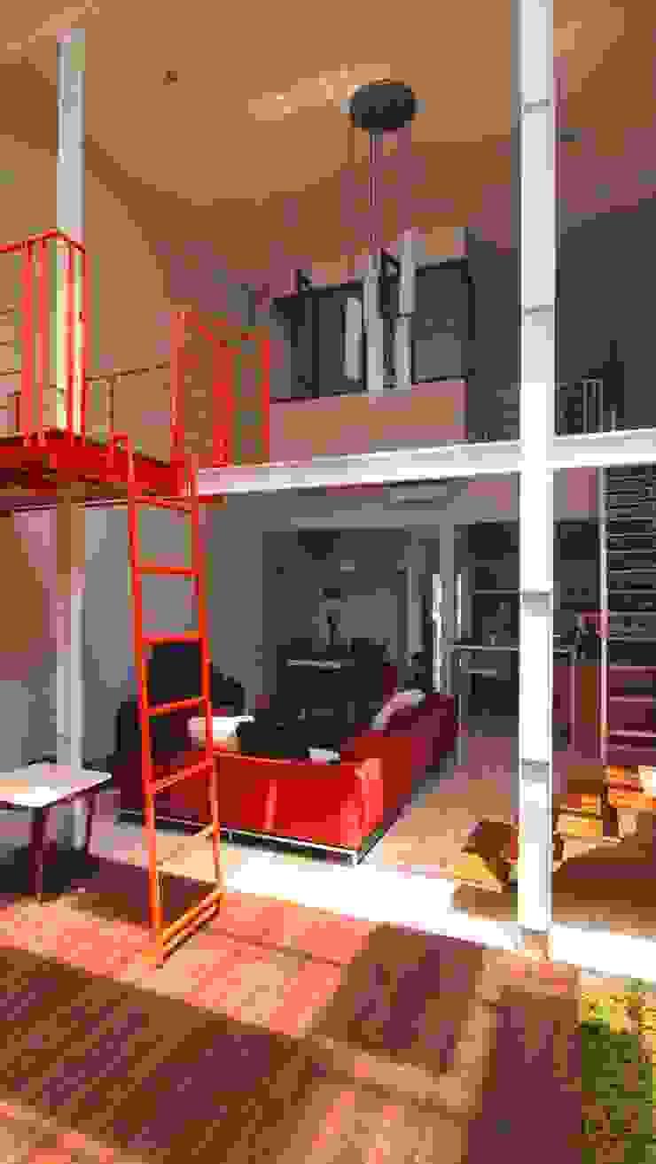 Interior Cage House Ruang Keluarga Modern Oleh Parametr Architecture Modern Besi/Baja