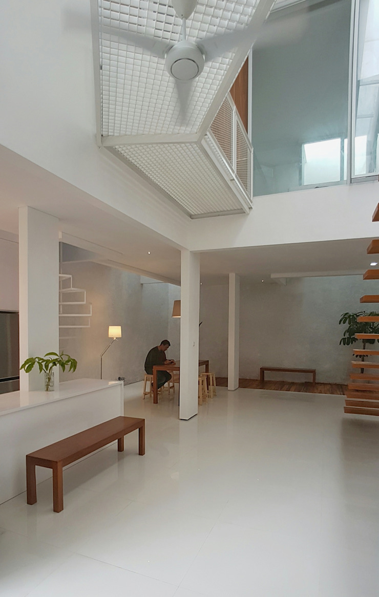 Interior Ruang Keluarga Modern Oleh Parametr Architecture Modern Besi/Baja