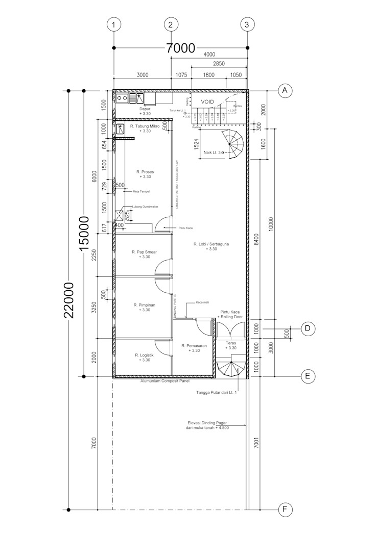 HUM Laboratory Ruang Studi/Kantor Minimalis Oleh sorlaarchitecs Minimalis