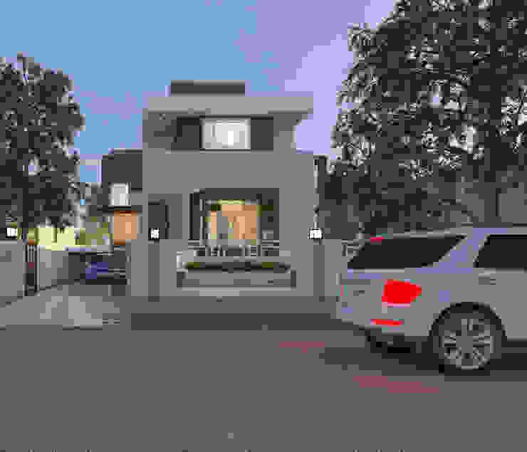 Villa Elevation by Abhishek Patel Environ Design Pvt Ltd