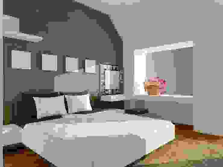 Phòng ngủ chính: hiện đại  by Cat-Studio, Hiện đại
