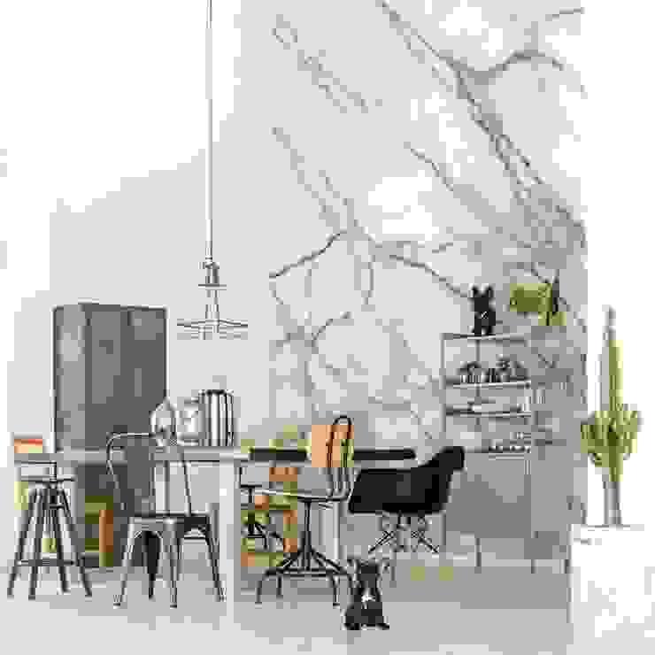 Imitation of Marble Pixers Minimalist dining room