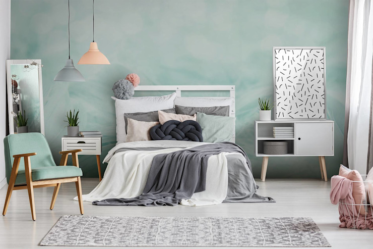 Scandinavian Mint Pixers Scandinavian style bedroom