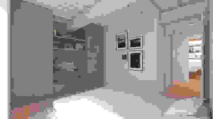 Camera padronale Camera da letto minimalista di smellof.DESIGN Minimalista Legno Effetto legno