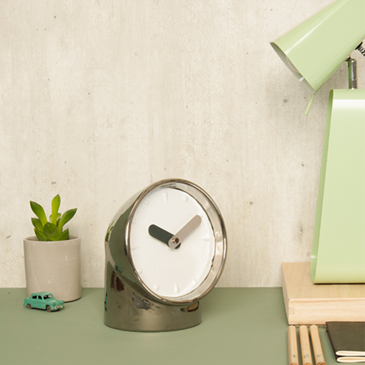 Karlsson Table clock Periscope: modern  by Just For Clocks,Modern Metal