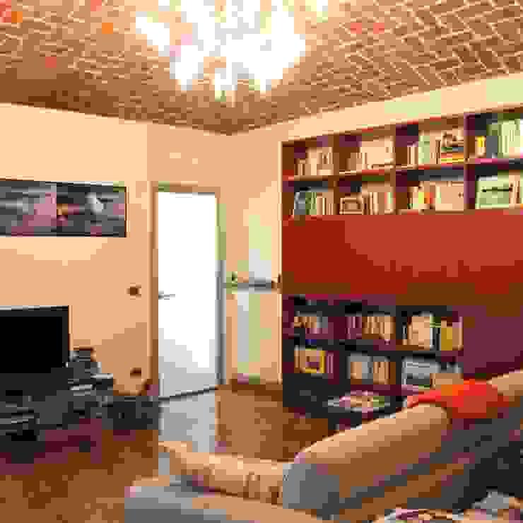 Appartamento A+M Soggiorno moderno di ArchitetturaTerapia® Moderno