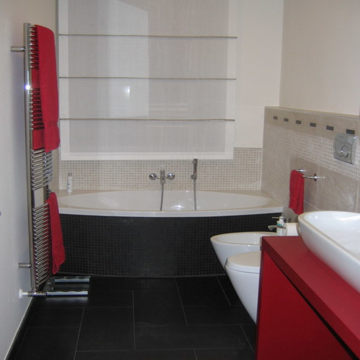 Appartamento A+M Bagno moderno di ArchitetturaTerapia® Moderno