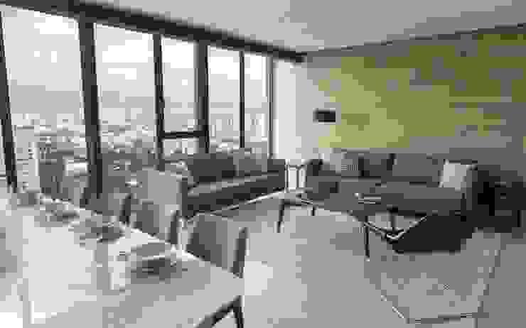 Departamento ZW Salon moderne par Concepto Taller de Arquitectura Moderne
