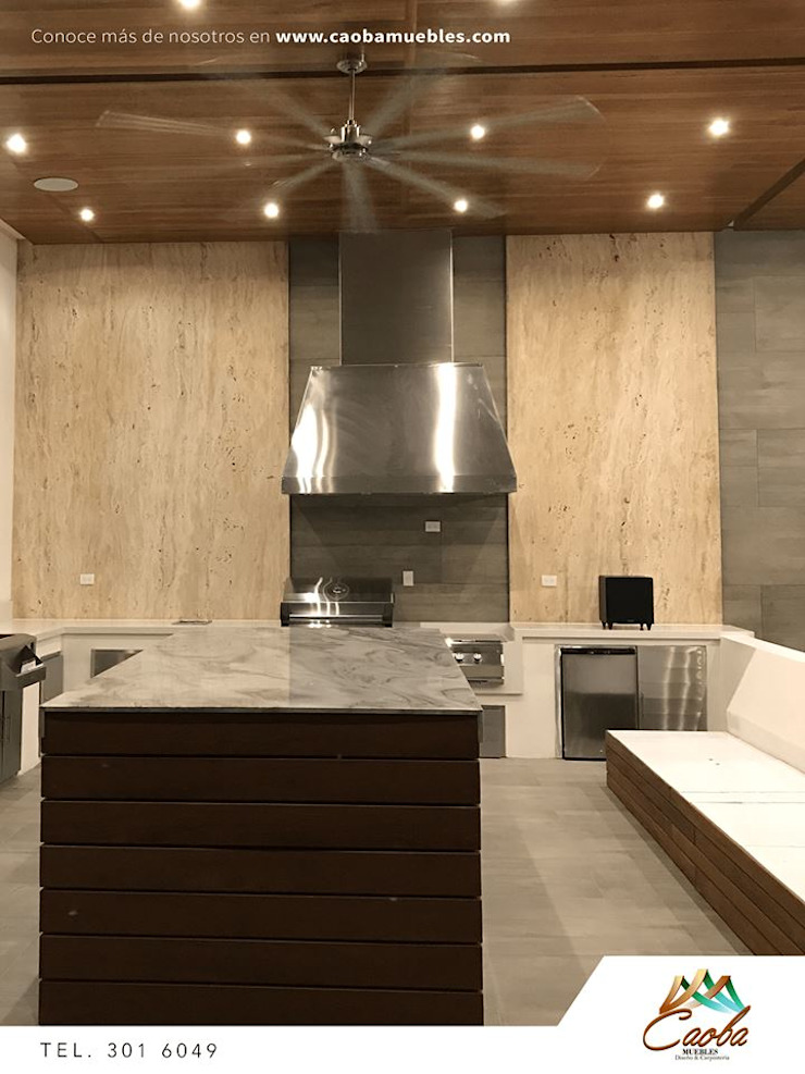 Proyecto Caborca Balcones y terrazas modernos de Caoba Muebles Moderno