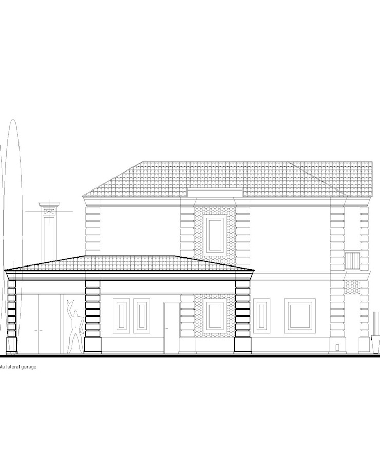 anteproyecto casa clásica contemporánea de 253 ARQUITECTURA