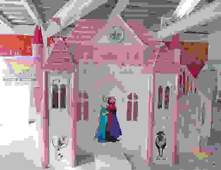 castillo de frozen en rosa de camas y literas infantiles kids world Clásico Derivados de madera Transparente