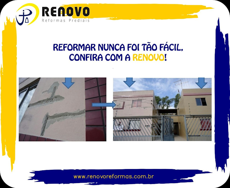 by Renovo Reformas Retrofit Fachada 3473-2000 em Belo Horizonte Класичний Граніт