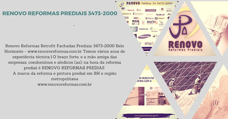 by Renovo Reformas Retrofit Fachada 3473-2000 em Belo Horizonte Класичний Мармур