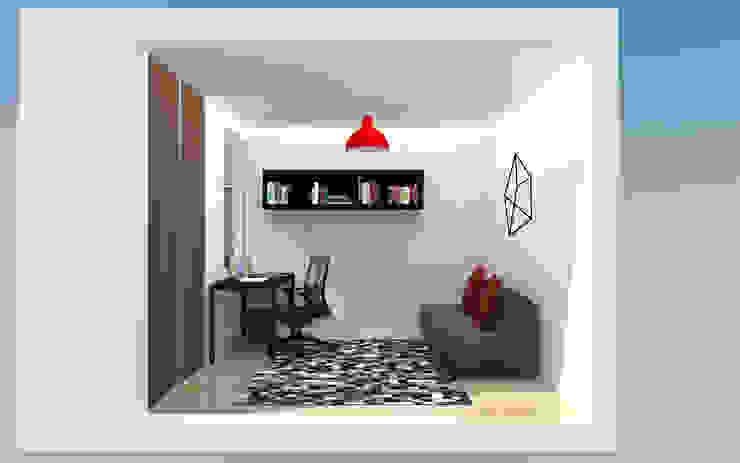PH 513 TRIBU ESTUDIO CREATIVO Salas de entretenimiento de estilo moderno