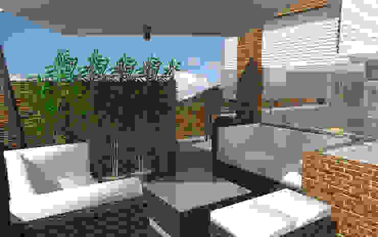 PH 513 TRIBU ESTUDIO CREATIVO Balcones y terrazas de estilo moderno