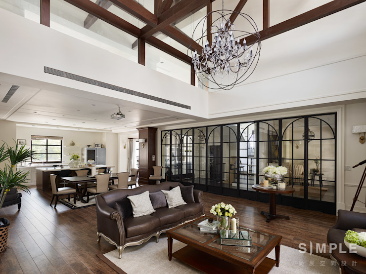Living room by 尚展空間設計,