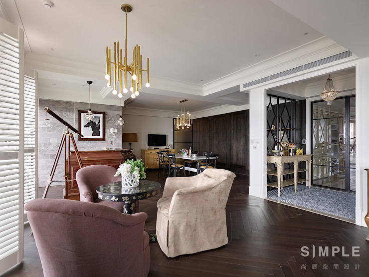 Colonial style dining room by 尚展空間設計 Colonial