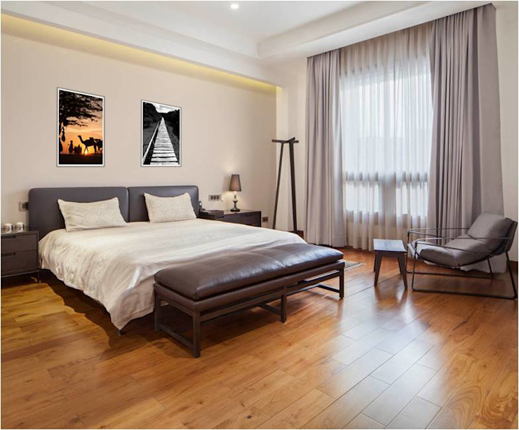 Aggarwal Residence groupDCA Modern style bedroom
